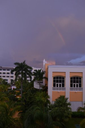 Iberostar Rose Hall Beach Hotel: View from room after quick rain storm