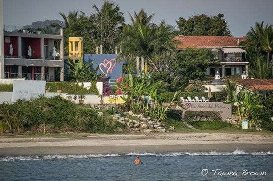 Villa Amor Del Mar from the Ocean - La Cruz de Huanacaxtle