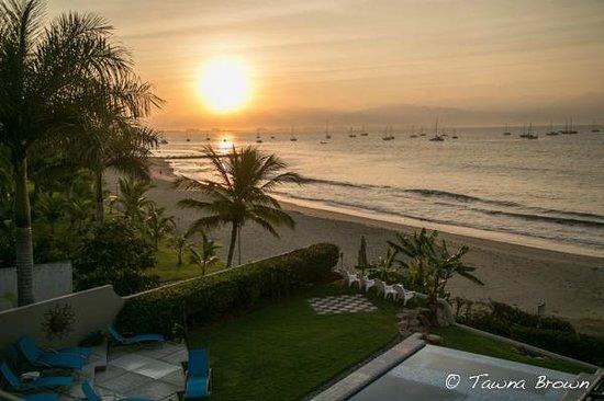 Sunrise from my balcony at Villa Amor del Mar- La Cruz de Huanacaxtle