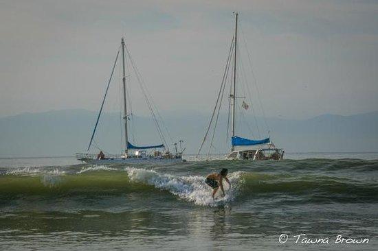 Surfing just steps away from Villa Amor del Mar - La Cruz de Huanacaxtle