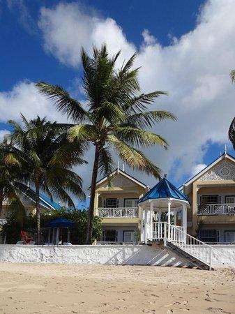Villa Beach Cottages: Honeymoon villa, from the ocean.