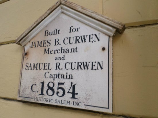 The Salem Inn: Curwin House Plaque