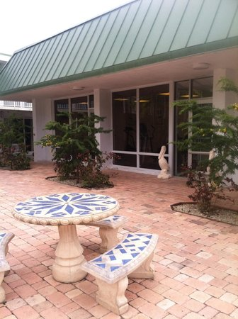 Floridian Hotel : Benches by pool