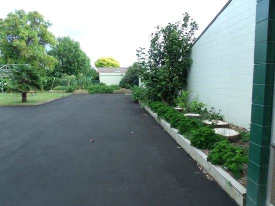 Katikati Motel: driveway and parsley for everyone