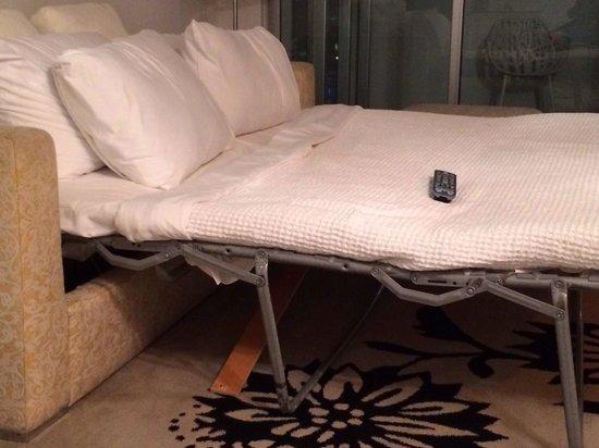 Mondrian South Beach Hotel : Inferior, dirty, and broken sofa bed