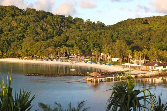 Palau Pacific Resort: the view from the hill close by