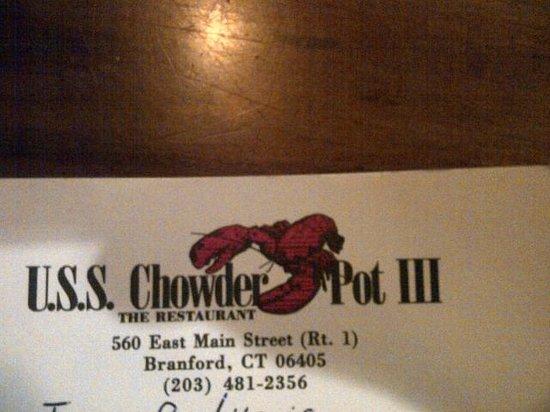 USS Chowder Pot III: Address