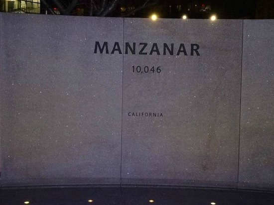 National Japanese American Memorial: Manzanar (where dad's family was sent)