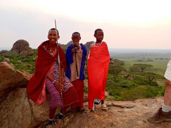 Olduvai Camp: Masai hosts.