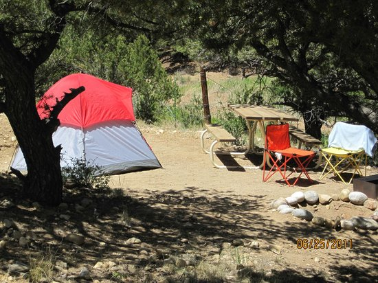 Arrowhead Point Campground & Cabins: Private tent site