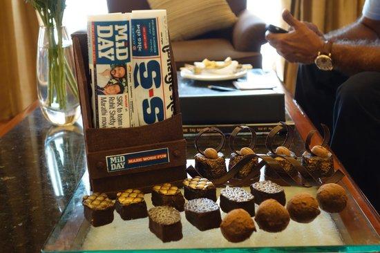 Taj Exotica Goa: Chocolate creation for our room