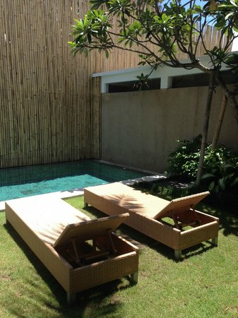Uma Sapna: Private Pool area @ Room Moyo