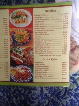 Hotel Golf : menu