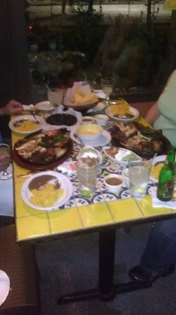 Ninfa's on Navigation: Our table was groaning under the weight of our dinner.