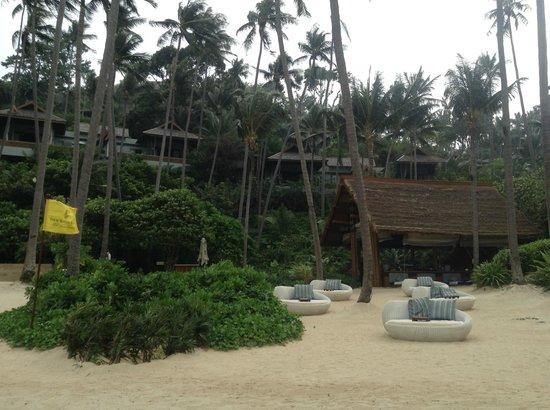 Four Seasons Resort Koh Samui Thailand : Villas vue de la plage