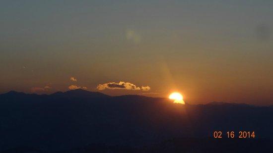 Wildflower Hall, Shimla in the Himalayas: sunset