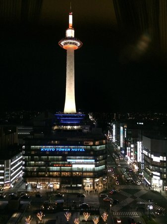 Hotel Granvia Kyoto: Night View from Room