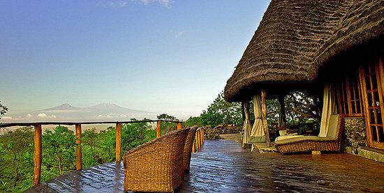 Campi ya Kanzi: Stunning views from Tembo House overlooking the majestic Mount Kilimanjaro