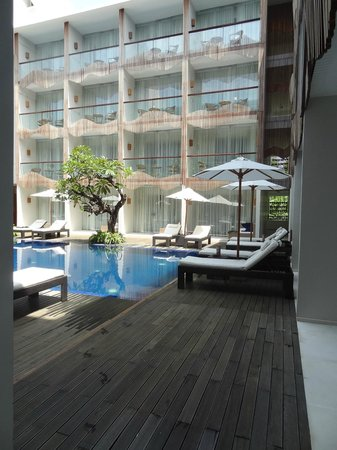 The Bene Hotel: Looking out from Pool Access Room 117