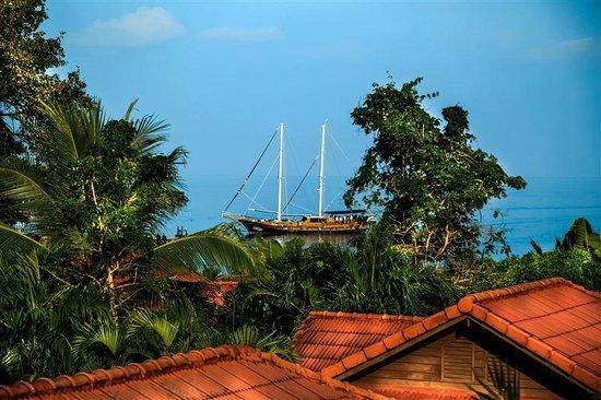Punnpreeda Beach Resort: Vue chambre en étage