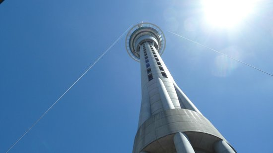 Sky Tower from Sky Jump landing pad