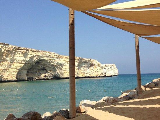 Shangri La Barr Al Jissah Resort & Spa-Al Husn : Blick von den Liegen aus