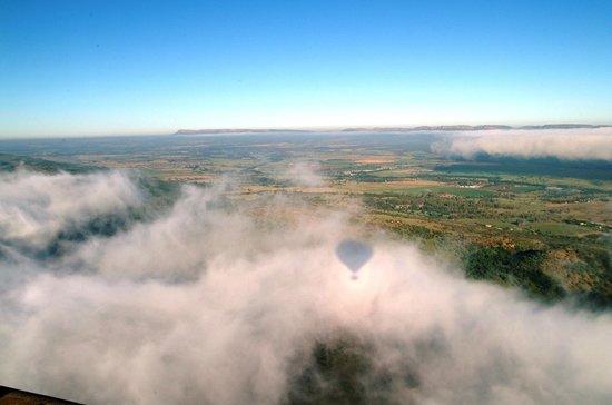 Bill Harrop's Original Balloon Safaris: Our shaddow on the clouds