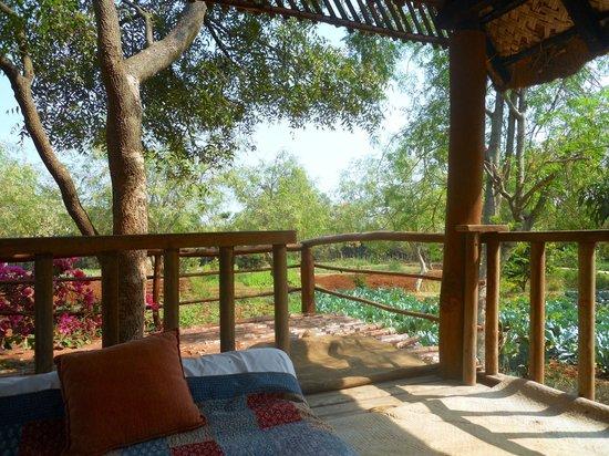 Shreyas Yoga Retreat: Meditation hut in garden