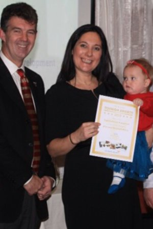 Raymond's : Collecting out certificate at The IOM Tourism Awards