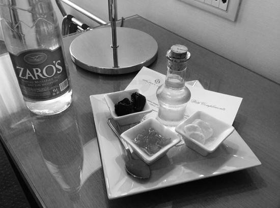 Galaxy Hotel Iraklio: welcome drink