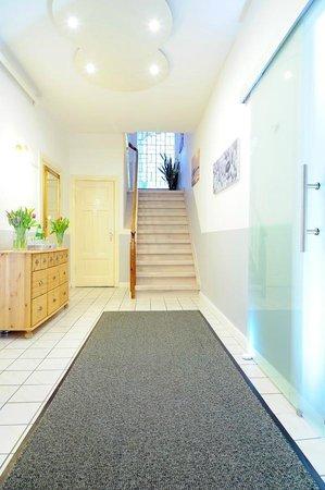 Pension Dünenschloss: Treppenaufgang