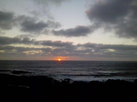 Cape Leeuwin Lighthouse: orange sunset
