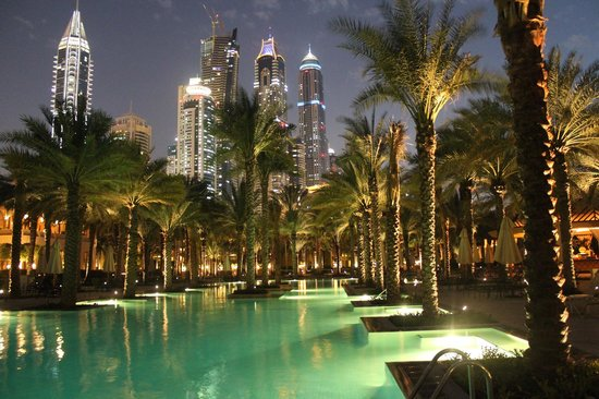One&Only Royal Mirage Dubai : One&Only Royal Mirage pool area Nicole Allmann Travel Expert
