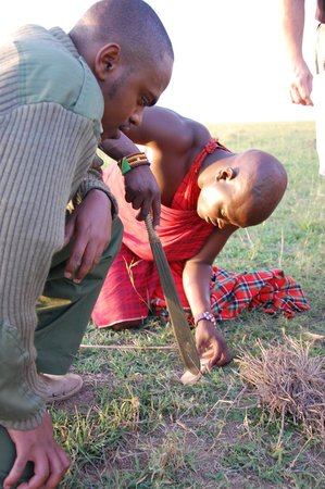 Elephant Pepper Camp: Making fire Masai