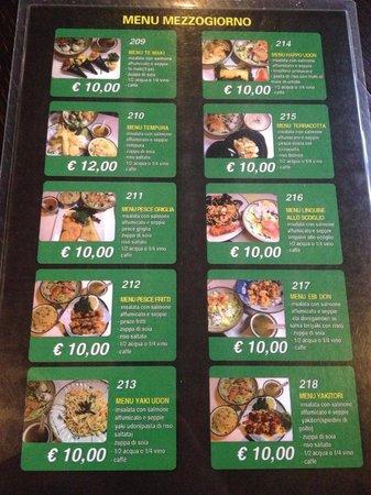 Take Sushi: Menù pranzo 2