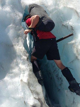 Franz Josef Glacier Guides: Alex leading the way
