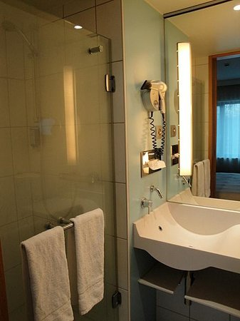 Novotel Berlin Am Tiergarten: Separate shower in the bathroom