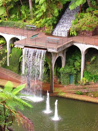 Monte Palace Tropical Garden : the beautiful feature lake and waterfall