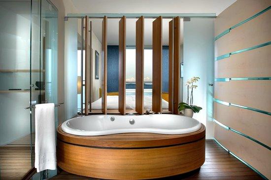 Hotel Palafitte : Bath tub with view