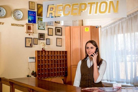 Hotel Galaktika: The front desk