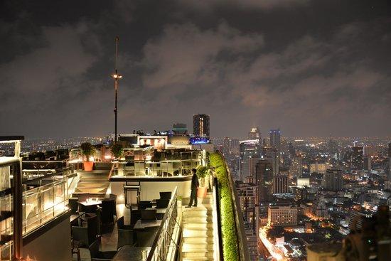 Banyan Tree Bangkok : rooftop bar :) with amazing views