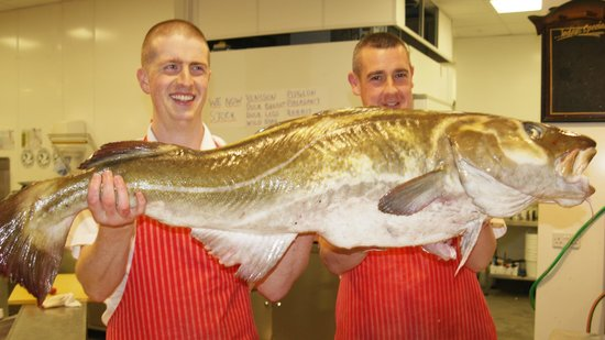 The famous cod on Blackburn Market