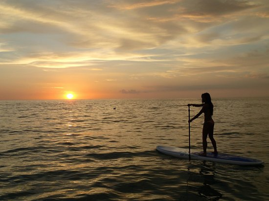 Del Mar Surf Camp: Sunset SUP....bliss.