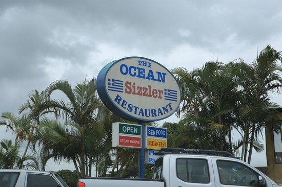 The Ocean Sizzler : Roadsign