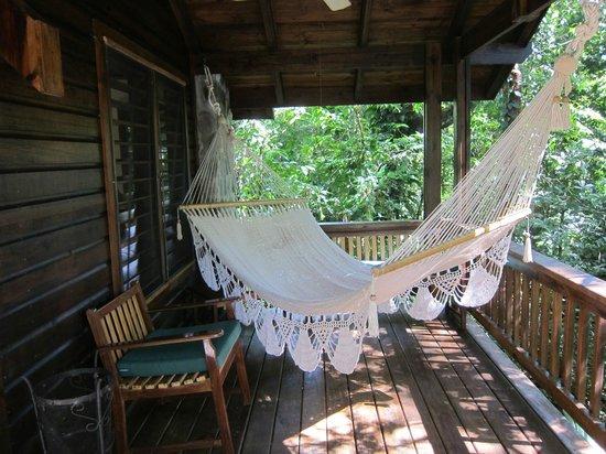 The Lodge and Spa at Pico Bonito: hammock at our cabin