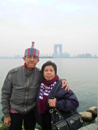 Jinji Lake: Me and my wife