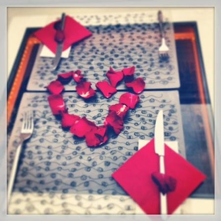 Sultan Tughra Hotel : Valentine's Day breakfast table at the Sultan Tughra