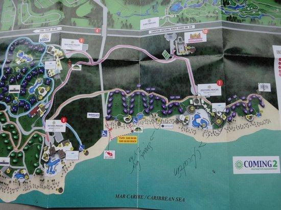 Grand Bahia Principe Tulum: Plan de l'hotel