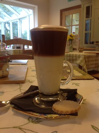 The Bluebell Cafe at Barrowmore: Have a hot drink served with a buttery home-made shortbread biscuit.