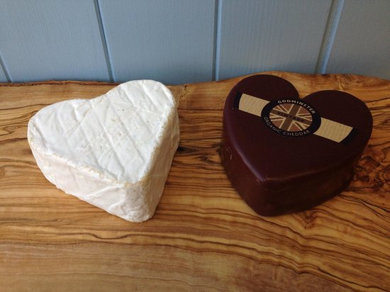 The West Country Deli: Delicious heart shaped cheeses